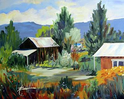 Mountain Settlement In New Mexico  Art Print