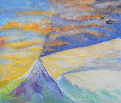 Sun Casting Shadow Painting - Mountain Shadow In The Sky by Nancy Mauerman