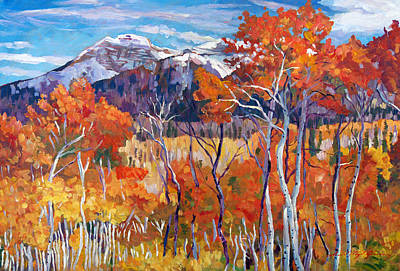 Big Skies Painting - Mountain Silence by David Lloyd Glover