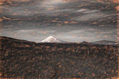 Digital Art - mountain sketch II by Bill Posner