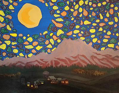 Olympic National Park Painting - Mountain Sky by Shane Neilson