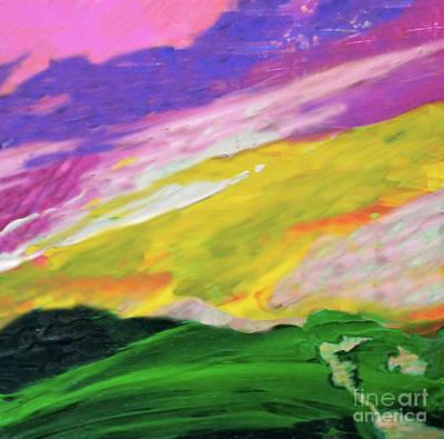Beautiful Vistas Mixed Media - Mountain Skyscape by Sharon Eng