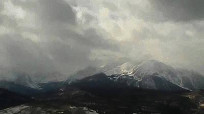 Digital Art - Mountain Snow by Ernie Echols