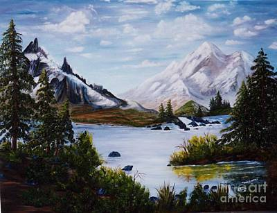Mountain Splendor Art Print by Myrna Walsh