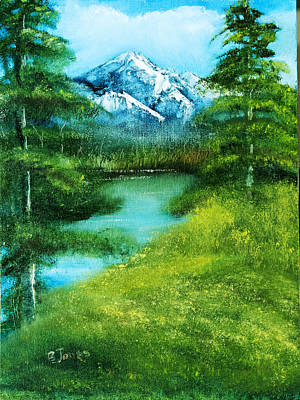 Oil Painting - Mountain Spring by Barry Jones