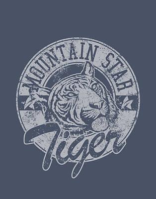 Shirt Digital Art - Mountain Star by BONB Creative