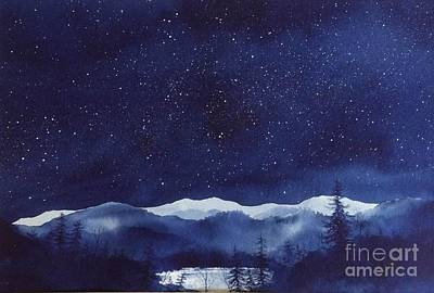 Smokey Mountains Painting - Mountain Starlight by Megan Richard