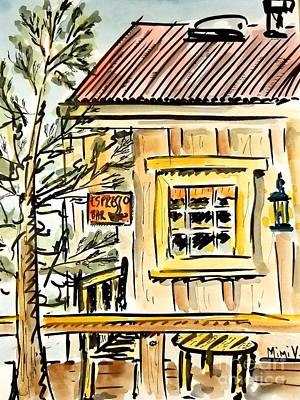 Painting - Mountain Store by Maria Langgle