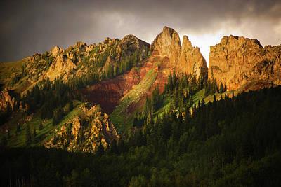 Mountain Storm Light Art Print