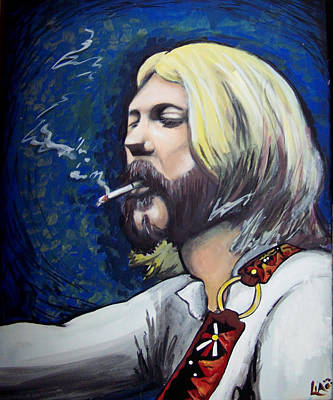The Allman Brothers Painting - Mountain Strap by Lia Littlewood