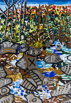 Dupont Painting - Mountain Stream 3 by Micah Mullen