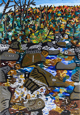 Dupont Painting - Mountain Stream 4 by Micah Mullen