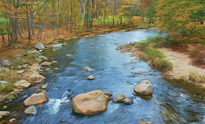Photograph - Mountain Stream - Autumn by Nikolyn McDonald