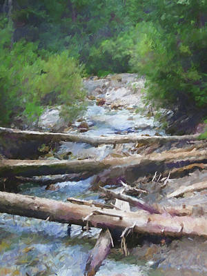 Digital Art - Mountain Stream by David King