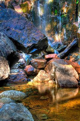 Art Print featuring the photograph Mountain Stream by Greg DeBeck