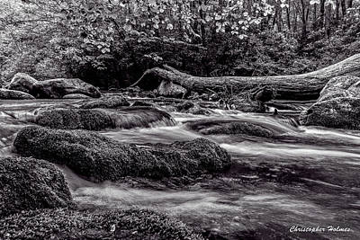 Photograph - Mountain Stream II Bw by Christopher Holmes