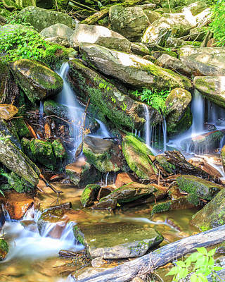 Photograph - Mountain Stream II by Gene Berkenbile