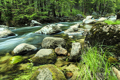 Photograph - Mountain Stream In Yosemite by Ben Graham