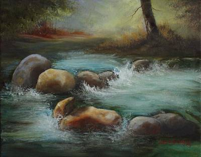 Painting - Mountain Stream by Judy Bradley