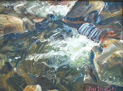 Mountain Stream Original by Len Stomski