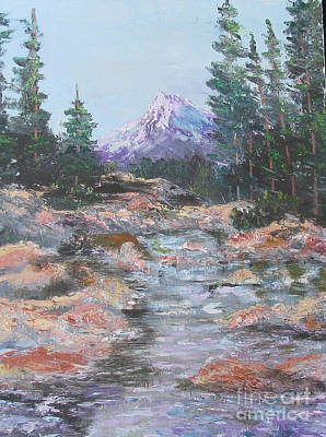 Painting - Mountain Stream by Linda Rupard