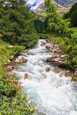 Photograph - Mountain Stream On Summer by Antonio Scarpi