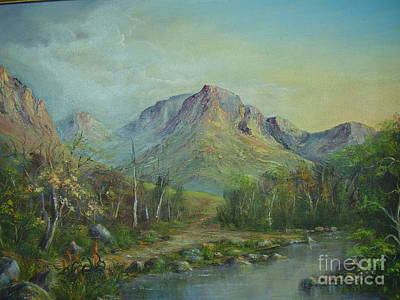 Mountain Stream Art Print by Rita Palm