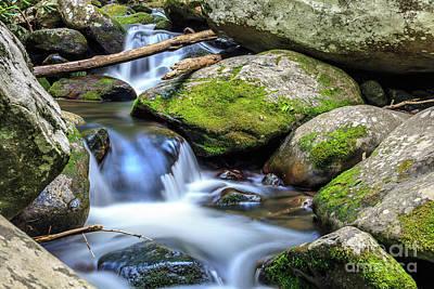 Photograph - Mountain Stream V by Gene Berkenbile