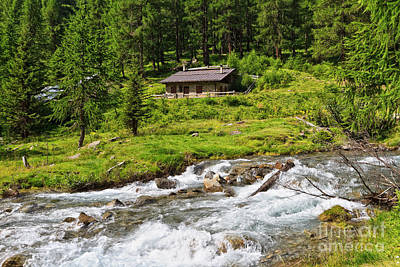 Photograph - Mountain Stream With Malga by Antonio Scarpi