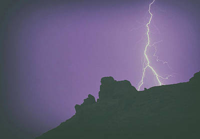 Lightning Photograph - Mountain Strike by Martin Newman