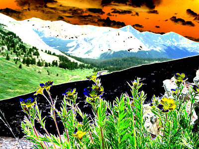Mountain Summer Art Print by Peter  McIntosh