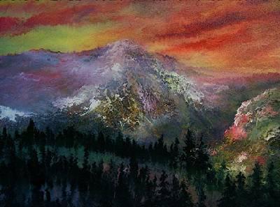 Mountain Summit Art Print by Jeffrey m Bozik