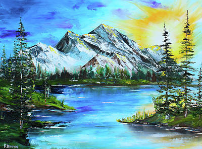 Painting - Mountain Sun by Kevin Brown