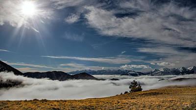 Photograph - Mountain Sun by Leland D Howard