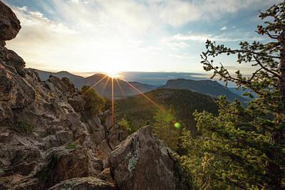 Photograph - Mountain Sun Rays by Sean Allen