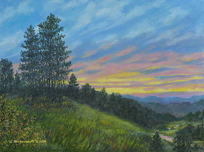 Painting - Mountain Sundown by Kathleen McDermott