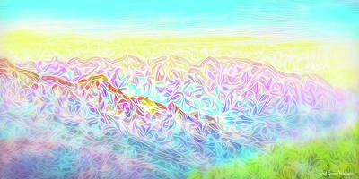 Digital Art - Mountain Sunrise Awakenings by Joel Bruce Wallach