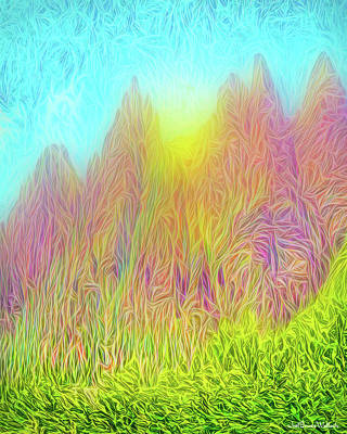 Digital Art - Mountain Sunrise Moment by Joel Bruce Wallach