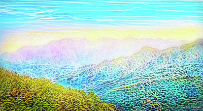 Digital Art - Mountain Sunrise Perceptions by Joel Bruce Wallach