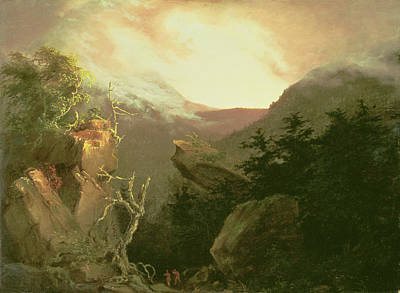 Rays Painting - Mountain Sunrise by Thomas Cole