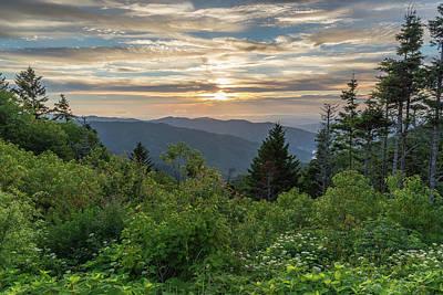 Tennesee Photograph - Mountain Sunset 2 by Bryan Bzdula