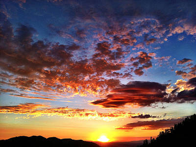 Photograph - Mountain Sunset 1 by Braden Moran