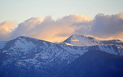 Photograph - Mountain Sunset by AJ  Schibig