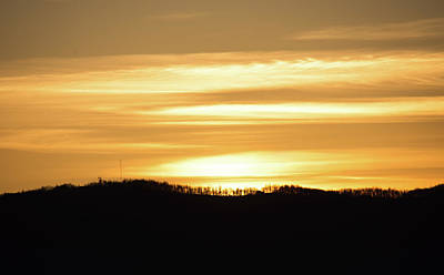 Photograph - Mountain Sunset by Andrea Anderegg