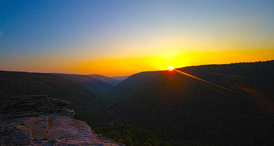 Photograph - Mountain Sunset by Daniel Houghton