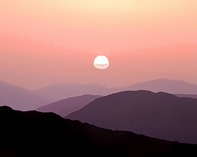 Photograph - Mountain Sunset by Gareth Davies