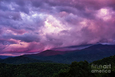 Mountain Sunset In The East Art Print
