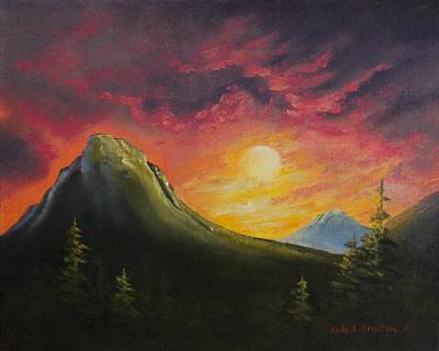 Painting - Mountain Sunset by Judy Bradley