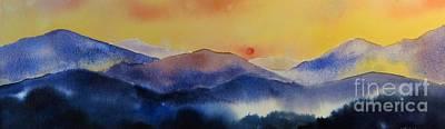Smokey Mountains Painting - Mountain Sunset by Megan Richard