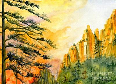 Painting - Mountain Sunset by Melly Terpening